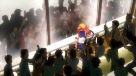【エロアニメ】「公開まんこ..恥ずかしいよー私変態だ」公衆の面前でオナニーショーが実行される!写真撮られて・・盛り上がる会場